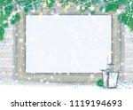 vector   christmas greeting  ... | Shutterstock .eps vector #1119194693