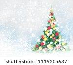 vector christmas tree greeting... | Shutterstock .eps vector #1119205637
