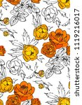 floral seamless pattern with...   Shutterstock .eps vector #1119216017