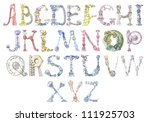 letters of the alphabet painted ... | Shutterstock . vector #111925703