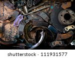 garages and car parts concept... | Shutterstock . vector #111931577