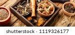herbal medicine medicinal herbs ... | Shutterstock . vector #1119326177