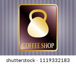 golden emblem or badge with... | Shutterstock .eps vector #1119332183