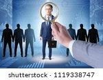recruitment and employment... | Shutterstock . vector #1119338747