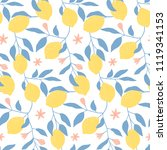 hand drawn seamless pattern... | Shutterstock .eps vector #1119341153