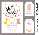 let's shower mommy to be. baby... | Shutterstock .eps vector #1119344447