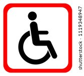 disabled wheelchair icon.... | Shutterstock .eps vector #1119348947