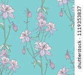 floral seamless pattern.... | Shutterstock .eps vector #1119353837