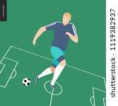 european football  soccer... | Shutterstock .eps vector #1119382937