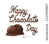 poster with delicious cocoa... | Shutterstock .eps vector #1119395837