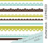 set of hand drawn lace paper... | Shutterstock .eps vector #111940223