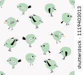 set of charming birds | Shutterstock .eps vector #1119403013