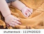 body part of baby when sleep.... | Shutterstock . vector #1119420323