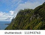 Постер, плакат: steep coast of faja