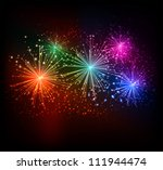Firework background - stock vector