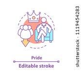 pride concept icon. arrogance... | Shutterstock .eps vector #1119454283