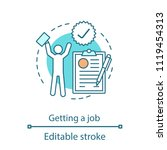 job getting concept icon.... | Shutterstock .eps vector #1119454313