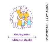 kindergarten concept icon.... | Shutterstock .eps vector #1119458003