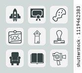 premium set of outline  fill... | Shutterstock .eps vector #1119462383