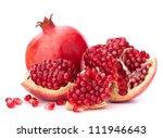 Ripe Pomegranate Fruit Isolate...