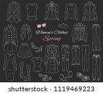 female fashion set. women... | Shutterstock .eps vector #1119469223