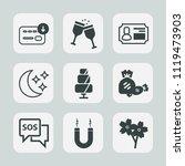 premium set of outline  fill... | Shutterstock .eps vector #1119473903