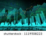 stock market or forex trading... | Shutterstock . vector #1119508223
