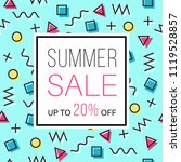 sale banner for online shopping ... | Shutterstock .eps vector #1119528857