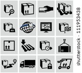 Logistics shipping icons set. - stock vector