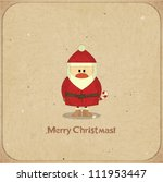santa claus on vintage... | Shutterstock .eps vector #111953447