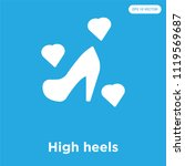 high heels vector icon isolated ... | Shutterstock .eps vector #1119569687