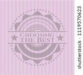 choosing the best pink emblem....   Shutterstock .eps vector #1119570623