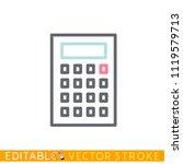 calclator mathicon. editable...   Shutterstock .eps vector #1119579713