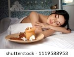 relaxed beautiful young woman... | Shutterstock . vector #1119588953
