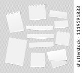 white note  notebook paper... | Shutterstock .eps vector #1119591833