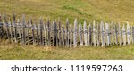 mountains with fence in...   Shutterstock . vector #1119597263