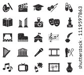 culture icons. black scribble... | Shutterstock .eps vector #1119597863