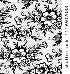romantic pattern with  black... | Shutterstock .eps vector #1119602033