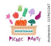 summer picnic concept  for web ... | Shutterstock .eps vector #1119611267