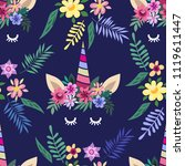 awesome seamless pattern with... | Shutterstock .eps vector #1119611447