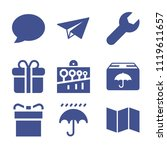 set of 9 other filled icons...   Shutterstock .eps vector #1119611657