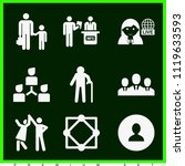 set of 9 people filled icons... | Shutterstock .eps vector #1119633593