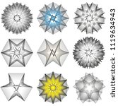 symbols of sacred geometry ... | Shutterstock .eps vector #1119634943