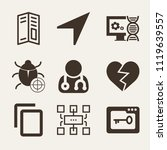 set of 9 interface filled icons ... | Shutterstock .eps vector #1119639557
