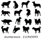 Stock vector dogs silhouette vector 111965093