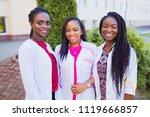 Happy graduates of the medical...