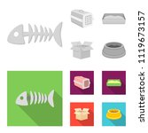 fish bone  container for an... | Shutterstock .eps vector #1119673157