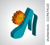 high heels icon vector isolated ... | Shutterstock .eps vector #1119674123