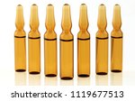 seven medical glass ampoules... | Shutterstock . vector #1119677513