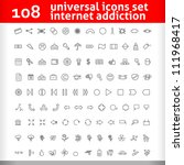 universal icons set. second ... | Shutterstock .eps vector #111968417